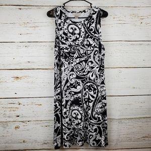 Loft Paisley Print Sleeveless Dress